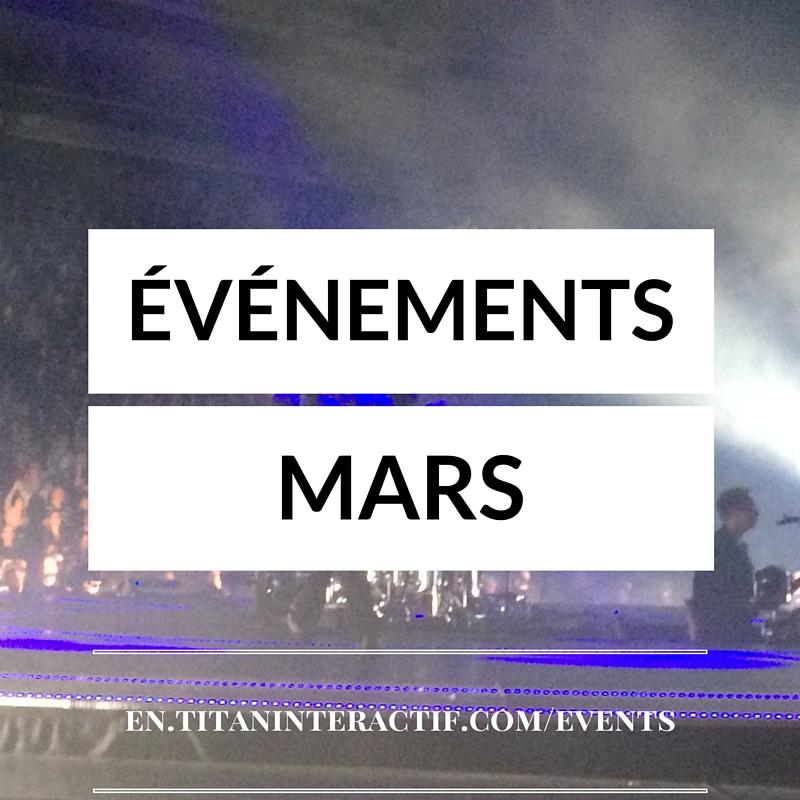 événements mars