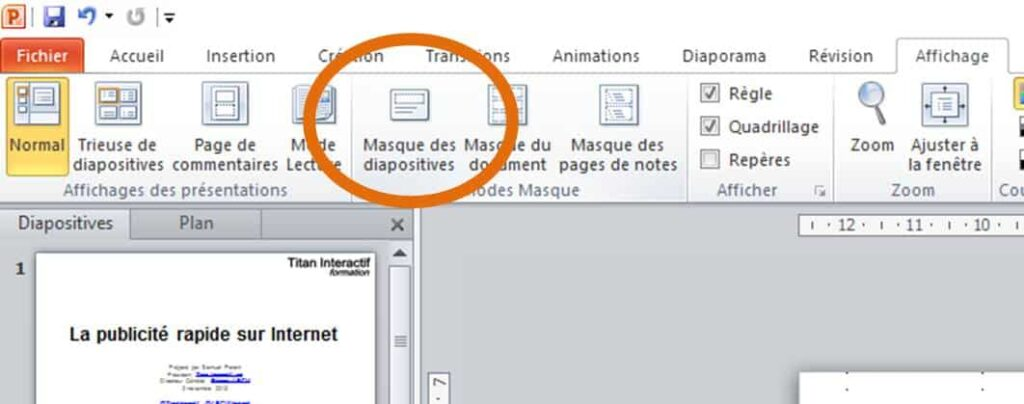 astuces powerpoint masque