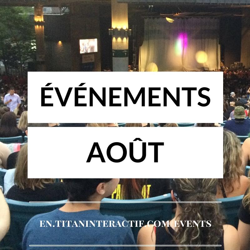 événements août