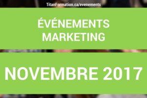 événements NOVEMBRE 2017