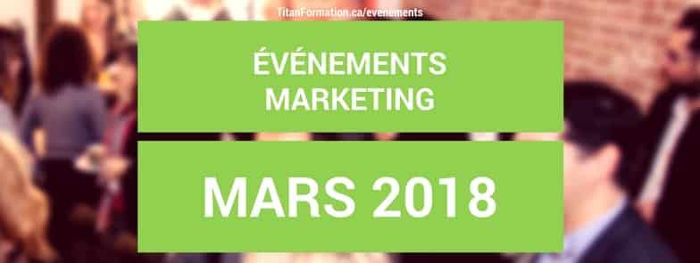 conférences en mars