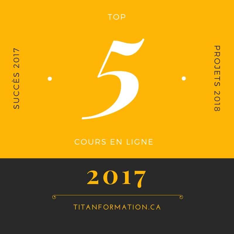 Top 5 cours en ligne