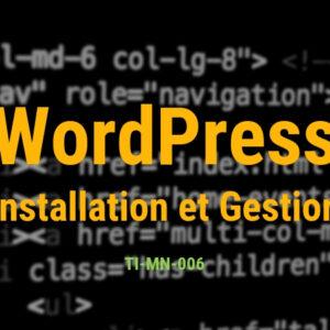 Installation et usage de WordPress