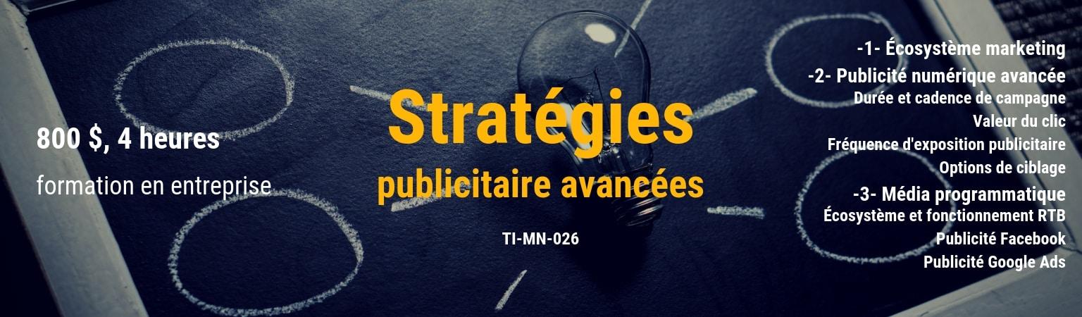 TI-MN-26 stratégies exécution publicitaires avancés