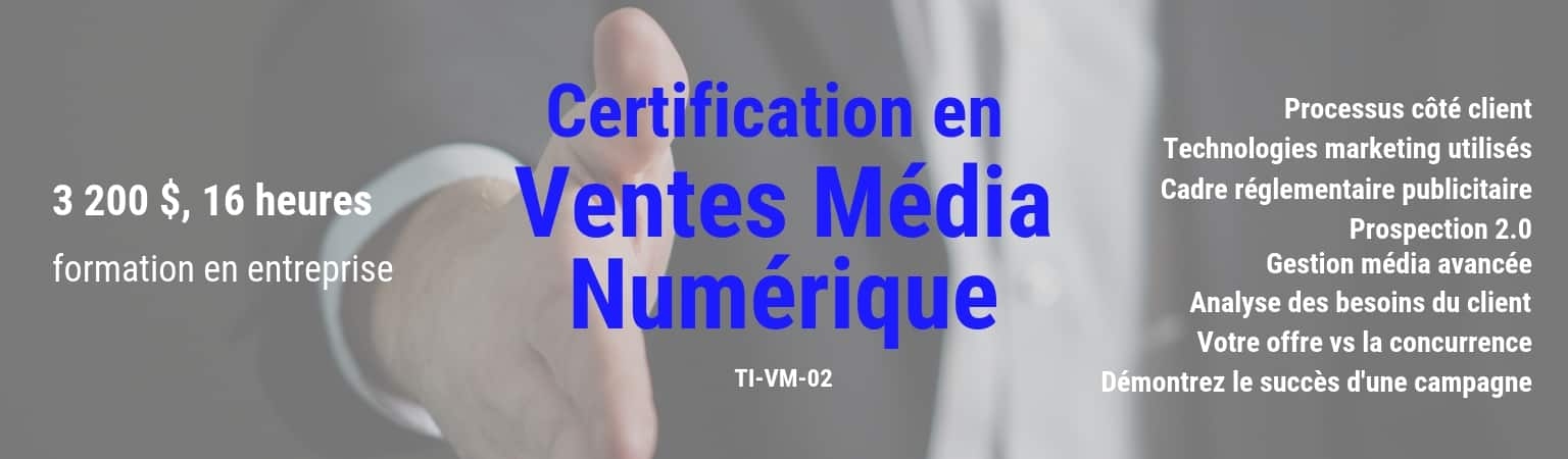 TI-VM-02 Certification en ventes média numérique